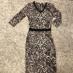 Robert Rodriguez leopard dress